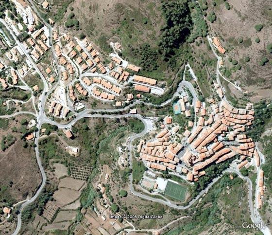 Rio nell'Elba aerea by Google Earth