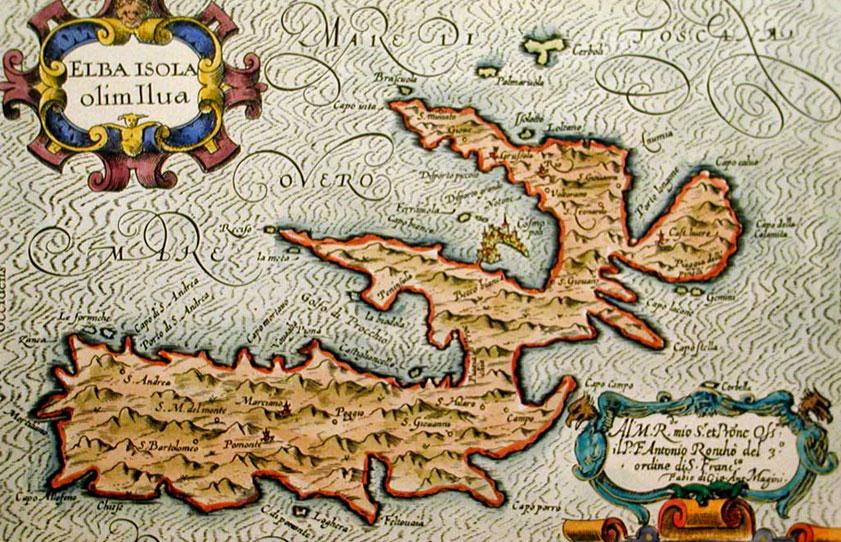 Antica mappa dell'Isola d'Elba