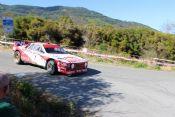 Pedro con Lancia 037 al Rally storico Isola d'Elba