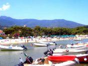 Marina di Campo - La spuiaggia sabbiosa