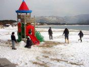 Marina di Campo - Neve sulla spiaggia