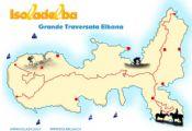 Cartina della grande traversata elbana