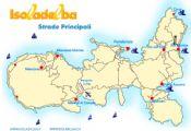 Mappa stradale dell'Isola d'Elba