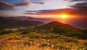 Nisporto panoramica al tramonto
